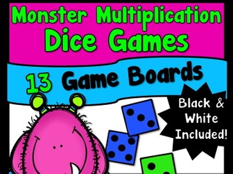 Monster Multiplication Dice Games