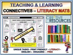 Connectives Literacy Mats - English