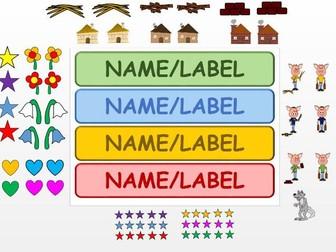 The Three Little Pigs - Create your own labels