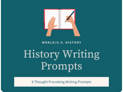 U.S./World History Writing Prompts