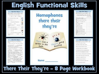 There, Their and They're - English Functional Skills - Entry Level 1
