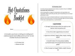 Romeo and Juliet and A Christmas Carol Quotations Revision/Intervention Booklet