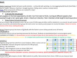 Athletics lesson plans KS3