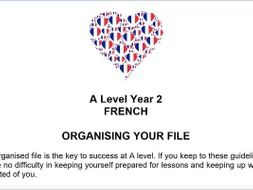 A level Year 2 French Student Handbook
