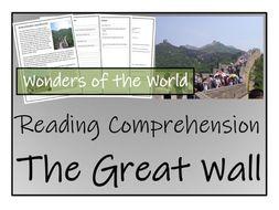 UKS2 History - Great Wall of China Reading Comprehension Activity