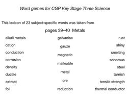 Word models for metals (cgp pp39–40)