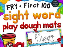 Playdoh Sight Word Mats With Custom Clay Font Fry First 100 Words