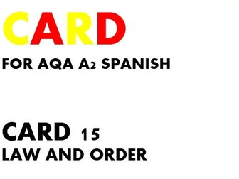 SPEAKING CARD 15 for AQA A2 SPANISH