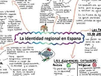 AQA La Identidad Regional A LEVEL SPANISH Mind Map