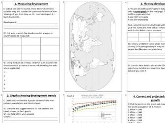 KS3 Development and population booklet
