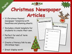 Christmas themed newspaper articles