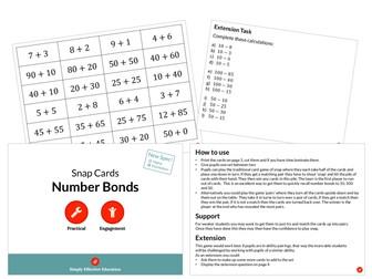 Number Bonds (Snap Cards)