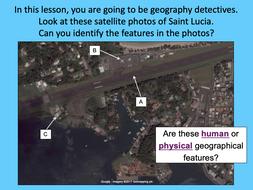 Investigating satellite photos of St Lucia - KS2