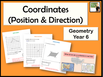 Maths- Geometry- describe positions on the full coordinate grid (all four quadrants) Year 6