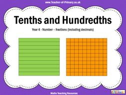 Tenths and Hundredths - Year 4