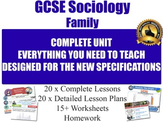 Sociology of the Family (20 Lessons) [ GCSE Sociology ] Families