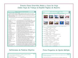 travel modes items combo activities spanish worksheets by eslfungames teaching resources. Black Bedroom Furniture Sets. Home Design Ideas