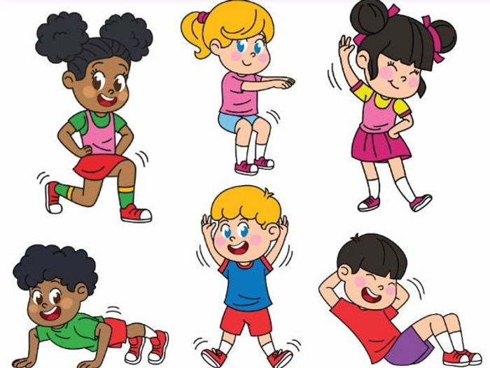 kids exercising exercises workout by alinavdesign teaching rh tes com exercising clipart black and white exercising clipart