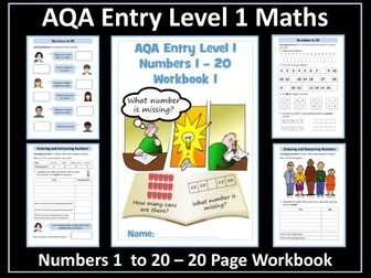 Numbers 1-20: AQA Entry Level Maths