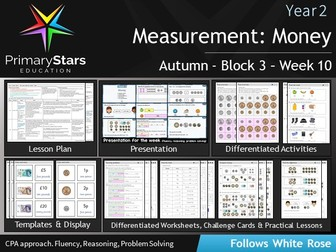 YEAR 2 - Money Measure - White Rose - WEEK 10 - Block 3 - Aut - Differentiated Planning & Resources