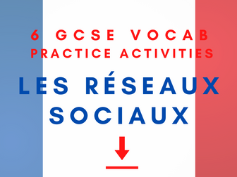 French GCSE Social Media in Every Day Life Vocabulary Practice