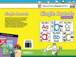 Cut and Paste Phonics US Book 1: Single Sounds for Kindergarten (60 pages)