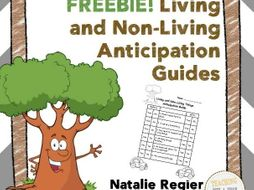 Living and Non-Living Anticipation Guides FREEBIE!