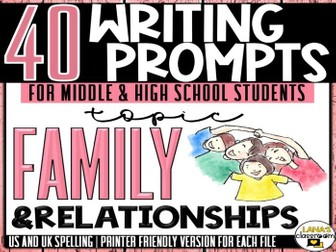 Daily Writing Prompts | Family | Middle and High School