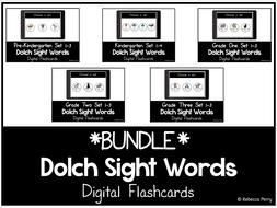 Dolch Sight Words - Digital Flashcards - Bundle