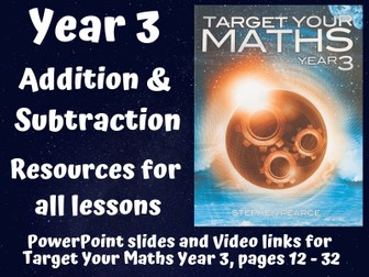 Target Your Maths Year 3 - Addition and Subtraction (resources for all lessons)