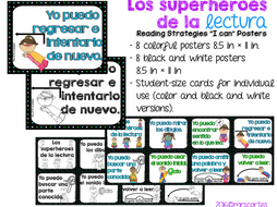 """Reading Strategies """"I can"""" Posters- Spanish"""