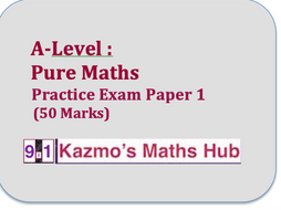 New A-level Maths (Pure) Practice Paper 1A