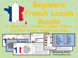 French 5 lesson bundle - All About Me - Age and Appearance