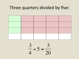 maths year  division of a fraction by a whole number  simple clear  maths year  division of a fraction by a whole number  simple clear  presentation plus worksheet by colinbillett  teaching resources  tes