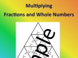 Multiplying Fractions and Whole Numbers – Math Puzzle