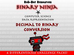 Binary Ninja! Decimal to Binary Activity Pack