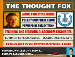 THE THOUGHT FOX BY TED HUGHES - ANIMAL POEM - POWERPOINT PRESENTATION