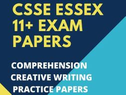 11+ CSSE Essex Practice Tests: Six Comprehension, Creative Writing & Verbal Reasoning Questions