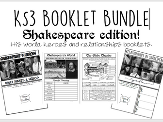 KS3 Shakespeare Booklet BUNDLE