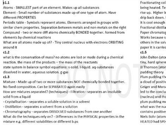 AQA Combined Science Trilogy Chemistry Paper 1 COMPLETE NOTES