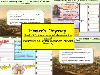 Homer's Odyssey – Book VII: The Palace of Alcinous (key events)