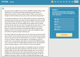 Starjack - Interactive Exercise - Year 6 Reading Comprehension (Fiction)
