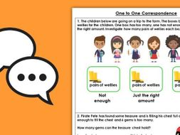 Year 1 One to One Correspondence Autumn Block 1 Maths Discussion Problems