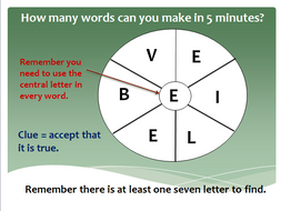 English Word Wheels Warm Up Game 7 Letters By Mrichmond Teaching