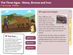 Tribal Life - Interactive Teaching Book - The Iron Age KS2