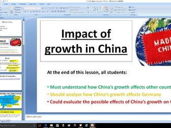 Impact of growth in China - A level Business / Economics