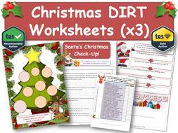 Christmas DIRT Worksheets (3 x A4) [DIRT, Exam, Revision, DIRT, AfL, Xmas]
