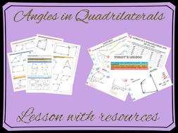 Angles in Quadrilaterals lesson