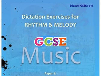 DICTATION - RHYTHM & MELODY PAPER #8 [POP MUSIC #1]