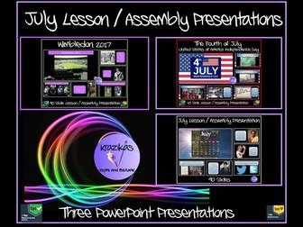 July Assemblies Bundle